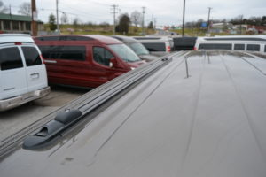 Lo-Pro Tracks by ProRac:Yes, Lo-Pro Tracks consists of two tracks mounted to the roof top of the van providing a sleek finished look to the top. The Lo-Pro comes complete with sliding Tie Downs, and Cross-Bar Anchors. ProRac Pro-File Cross-Bars can be added to the Lo-Pro Tracks providing a fully functional roof rack capable of carrying any of the ProRac application products.