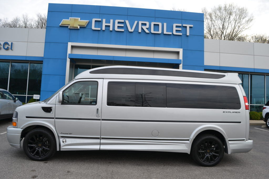 2021 Chevy Express 9 Passenger - Explorer Limited X-SE VC 1GCWGBF73M1249463 Mike Castrucci Conversion Van land