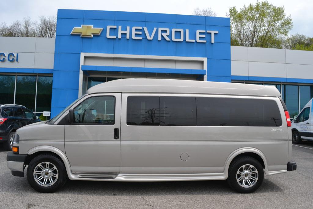 2019 Chevy Express 2500 9 Passenger Explorer Limited SE 1GCWGBFG6K1259675 Mike Castrucci Conversion Van Land