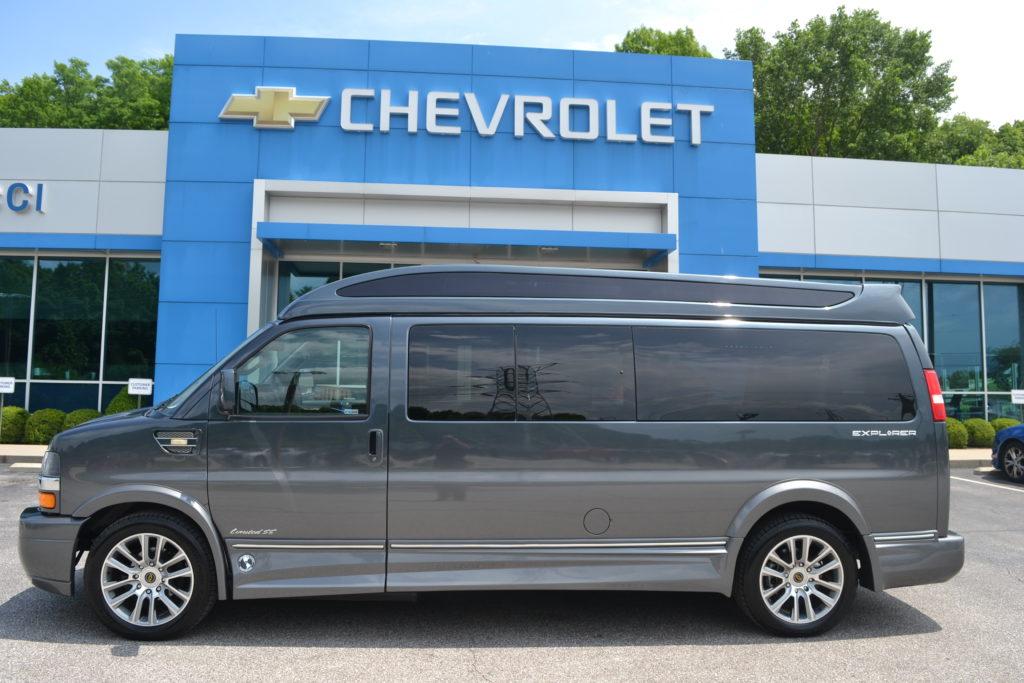 2019 Chevy Express 2500 9 Passenger - Explorer Limited SE 1GCWGBFG8K1235247 Mike Castrucci Conversion Van Land
