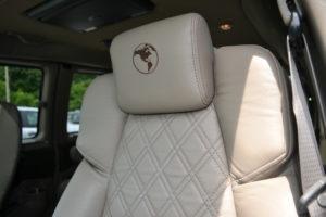 Tan Diamond Stitched Leather Seating