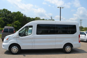 2021 Ford Transit AWD 350 MR 9 Passenger Explorer Limited SE 1FDAX9CG5MKA61573 Mike Castrucci Conversion Van Land