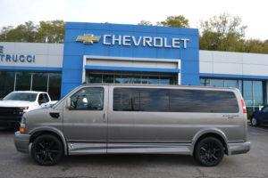 2020 Chevy Express 9 Passenger Explorer Limited X-SE Sport 1GCWGBFG4L1262334 Mike Castrucci Conversion Van Land