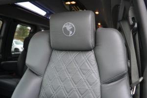 Graphite Diamond Stitch Seating Explorer Van Company