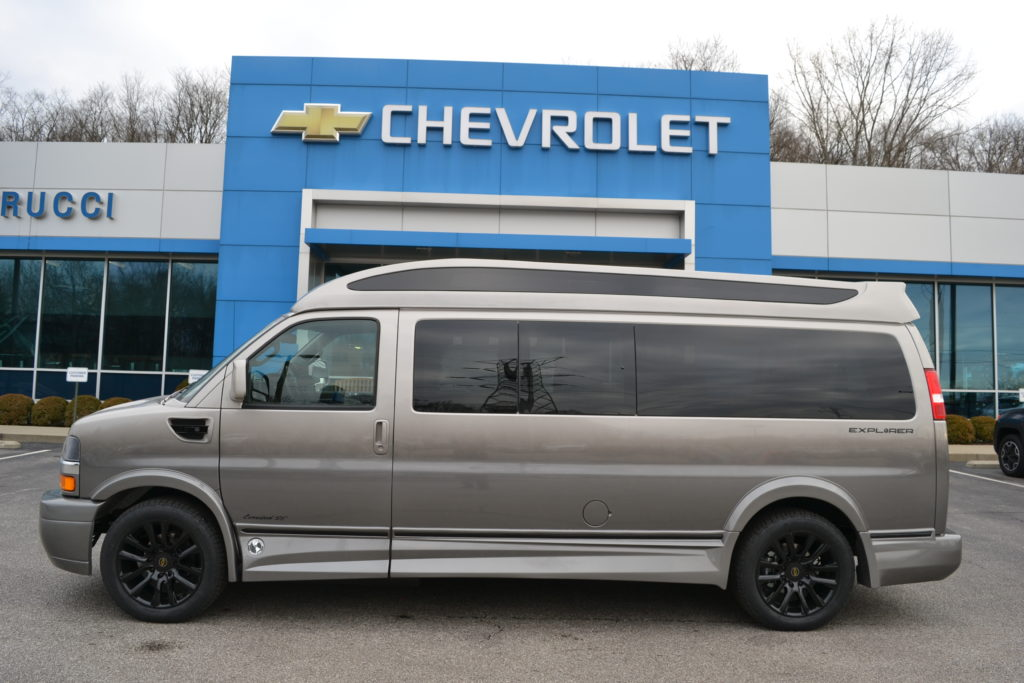 2020 Chevy Express 9 Passenger - Explorer Limited X-SE VC 1GCWGBFG1L1262310 Mike Castrucci Conversion Van Land