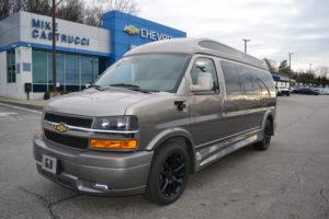 2020 Chevy Express 9 Passenger - Explorer Limited X-SE VC 1GCWGBFG1L262095 Mike Castrucci Conversion Van Land