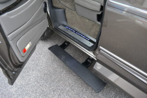 Power Retractable Running boards offer a Large and Comfortable step for an Easy transition into a very Comfortable Seat. Enjoy the Ride 2021 Explorer Van options