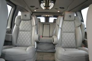 Tan Leather Diamond Stitched Seating Seating 2021 Explorer Van Company