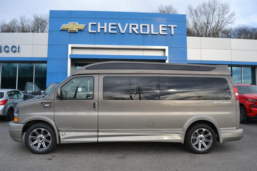 2020 Chevy Express 9 Passenger Explorer Limited X-SE VC 1GCWGBFG2L1258038 Mike Castrucci Conversion Van Land