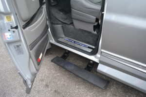 2020 Explorer Van Options Power Retractable Running Boards offer a Large secure step to make it easy to get in your van. Explorer Van Company