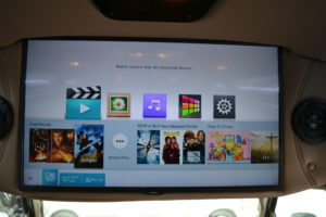 32″ Samsung QLED 4K UHD Smart TV Q50R Series,Blu-RayDVD Player with USB Input/Port, External Surround Speakers with JBL Audio External Speakers and JBL Powered Subwoofer Enclosure, Speaker On/Off Switch, Wireless Headphones. 2021 Explorer Van Options