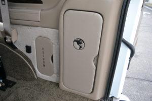 Vacuum and Jack Storage Compartments, 2021 Explorer Van interior mike Castrucci Conversion Van Land