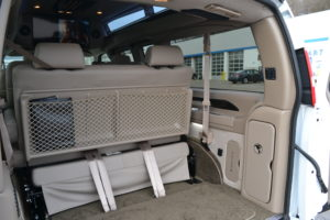 Large Rear Cargo Area, Great for Family or Team Travel Mike Castrucci Conversion Van Land 2021 GM Vans by Explorer Van Company