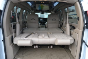 2021 Explorer Van Interior Rear Power Sofa