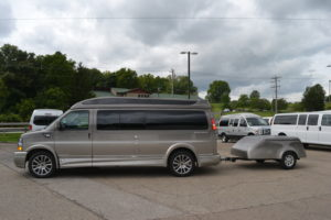 Tag along Cargo trailer From Explorer Van. Painted to Match your van.