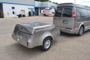 Tag Along Cargo Trailer From Explorer Van. Painted to Match your van. Mike Castrucci Conversion Van Land
