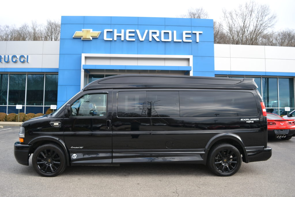 2019 Chevy Express 4X4 9 Passenger Explorer Limited X-SE 1GCWGBFG4K1212130 Mike Castrucci Conversion Van Land