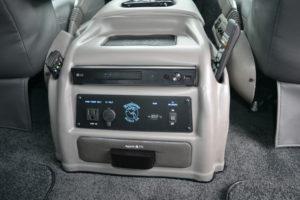 2020 Explorer Van Console Integrated Apple TV