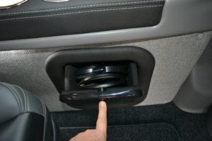 Wireless Headphone Storage Compartment 2020 Explorer Van Interior