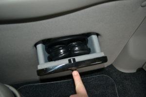 Wireless Headphone Storage Compartment, Explorer Van Interior