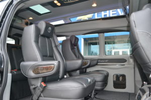 Comfortable Passenger Room in All Seats for Adults Growing Kids Large Car Seats or Basketball Players Mike Castrucci Chevrolet Conversion Van Land