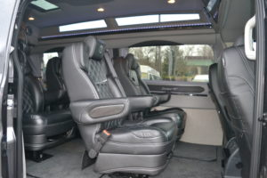 9 Passenger AWD Ford Transit Explorer Conversion Van Interior