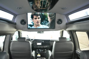 Large Flat Screen TV play Movies or Games. Make the Ride as fun as the Destination.