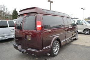 New GM Conversion Van 9 Passenger Loaded Explorer Red-Fade