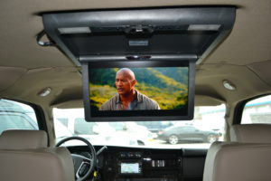 Move your Team in Comfort with All of the Fun Entertainment Options Conversion Van Land