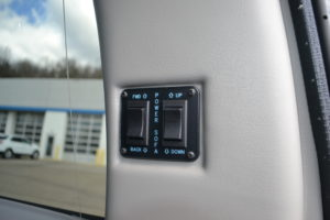 Power Slide & Power Recline Sofa Switches, Flexible Cargo options.