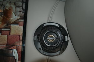 JBL Speakers for Rear Entertainment System Turn them off and Use the Wireless Headphones Explorer Van Company Mike Castrucci Conversion Van Land