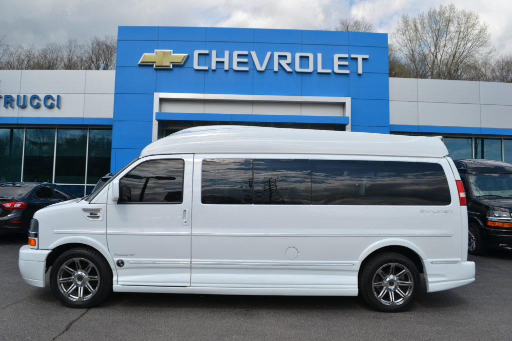 2014 Chevrolet Express Extended 9 Passenger Conversion Van White F1107261 Explorer Van Company Mike Castrucci Chevrolet Conversion Van Land