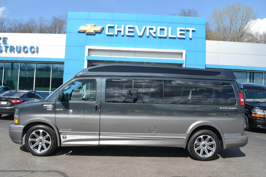 2017 Chevrolet Express Explorer Limited X-SE 9 Passenger Explorer Conversion Van H1274239 Cyber Gray Fade Mike Castrucci Chevrolet Conversion Van Land