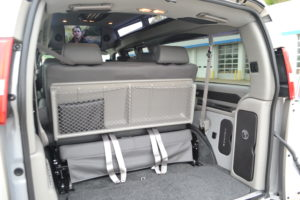 Cargo Room, get your Team and their Gear where you want to be. Make the Travel part of the Fun. Mike Castrucci Conversion Van Land