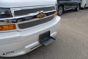 Front Step EXPLORER VAN 2020 OPTIONS Plate/License Plate Holder.