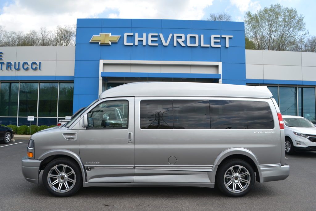 2018 Chevrolet Express Explorer Limited X-SE Hi-Top Conversion Van Silver Ice Fade J1240941 Mike Castrucci Chevrolet Conversion Van Land