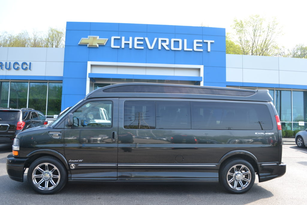2015 Graphite to Black Fade Explorer 9 Passenger Limited X-SE VC F1145312 Mike Castrucci Chevrolet Conversion Van Land