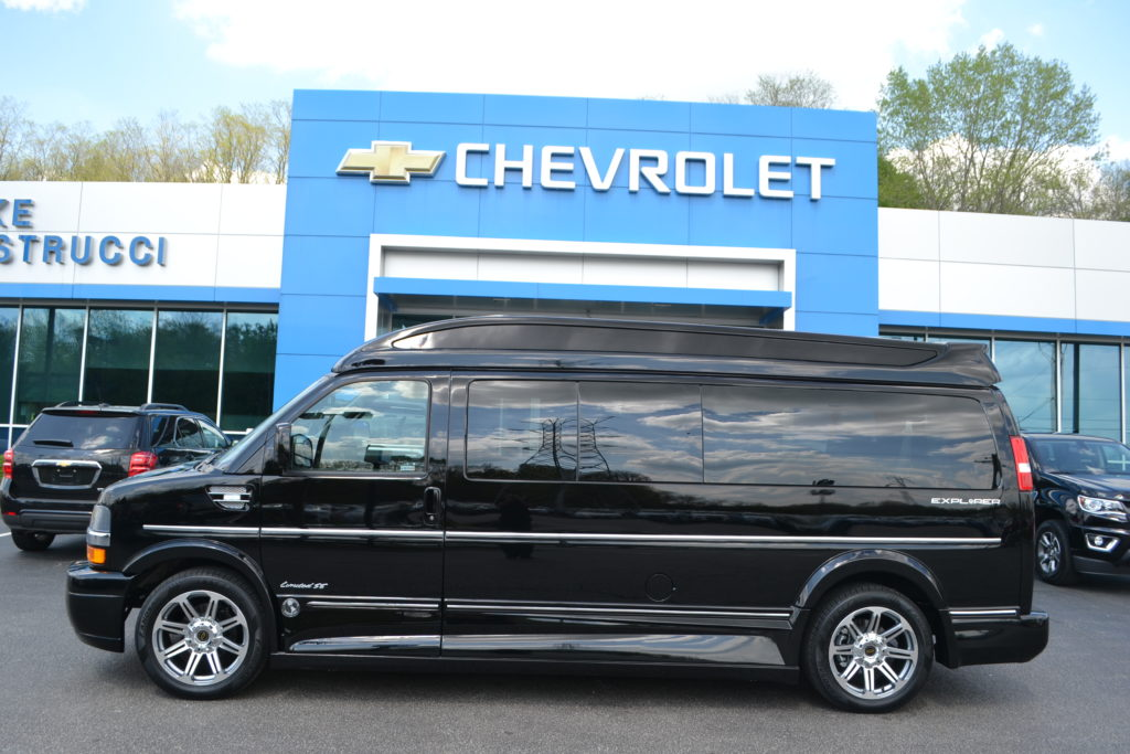 2018 Chevrolet Express 9 Passenger Explorer Conversion Van Limited X-SE J1243549 Black Mike Castrucci Conversion Van Land