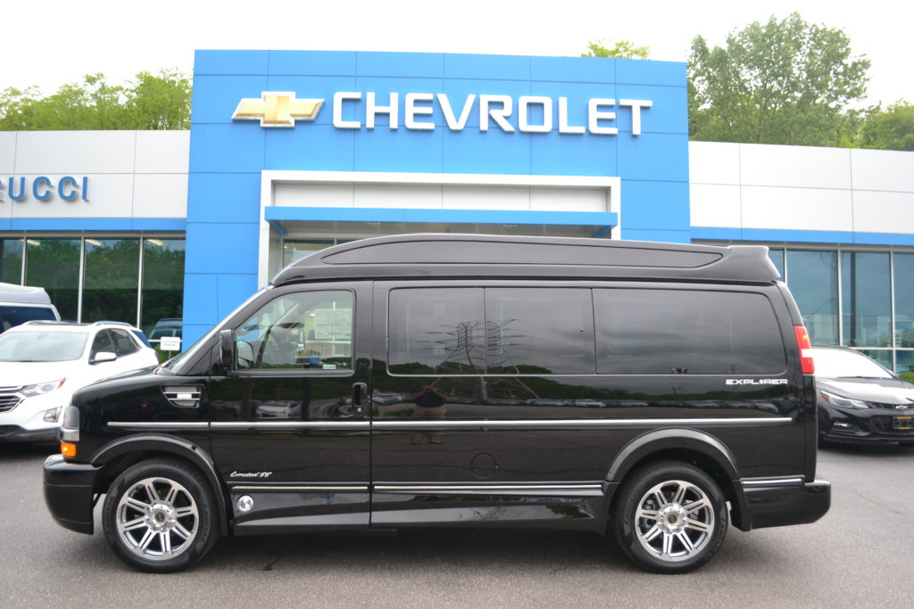 2018 Chevrolet Express Explorer Hi top Conversion Van Limited X-SE J1241817 Black Mike Castrucci Conversion Van Land