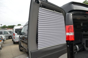 Shades on all Rear Passenger Side Windows and Doors Explorer Conversion Vans Mike Castrucci Ford