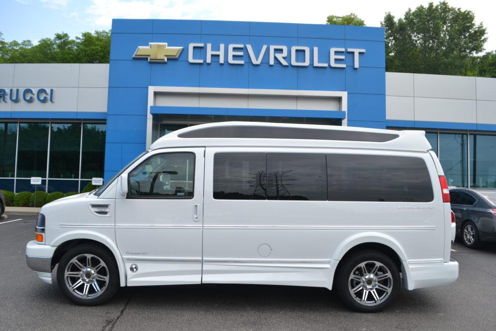2018 Chevrolet Express Explorer Conversion Van Limited X-SE J1212635 White Mike Castrucci Conversion Van Land