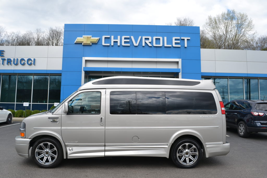 2018 Chevrolet Express Explorer Hi Top Conversion Van Limited X-SE J1181224 Silver Birch Metallic