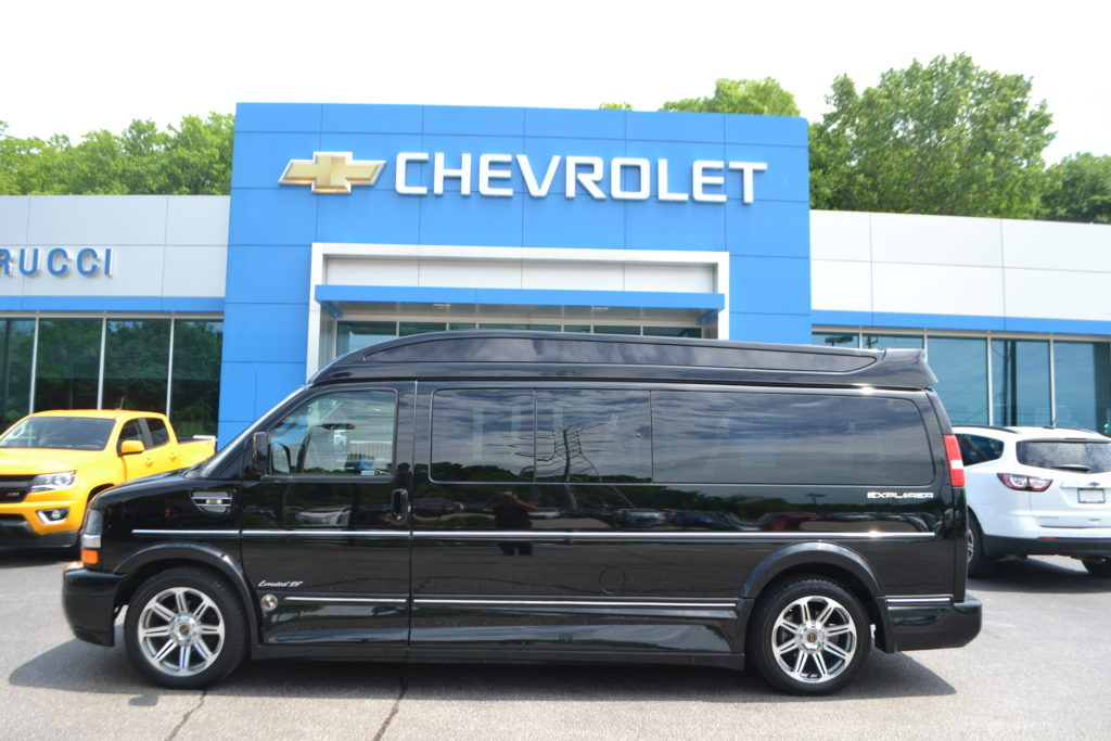2017 Chevrolet Express 9 Passenger Explorer Conversion Van H1135455 Black Conversion Van Land