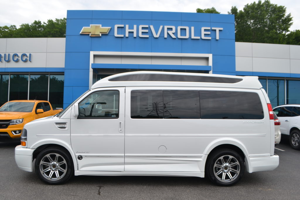 2018 Chevrolet Express Explorer Conversion Van Limited X-SE J1213320 White Mike Castrucci Conversion Van Land