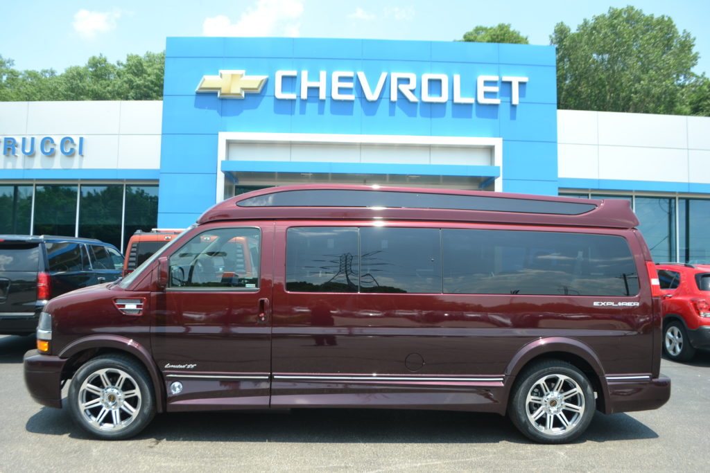 2018 Chevrolet Express 9 Passenger Explorer Conversion Van Limited X-SE J1178664 RED FADE Mike Castrucci Conversion Van Land