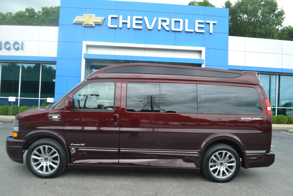 2019 Chevrolet Express Explorer Limited X-SE K1318440 Red Fade Mike Castrucci Conversion Van Land