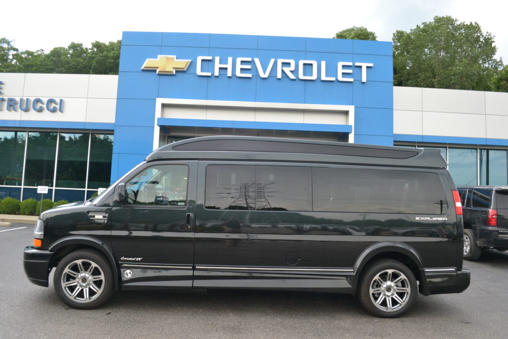 2018 Chevrolet Express Explorer 9 Passenger Conversion Van Black Fade Mike Castrucci Chevrolet Conversion Van Land