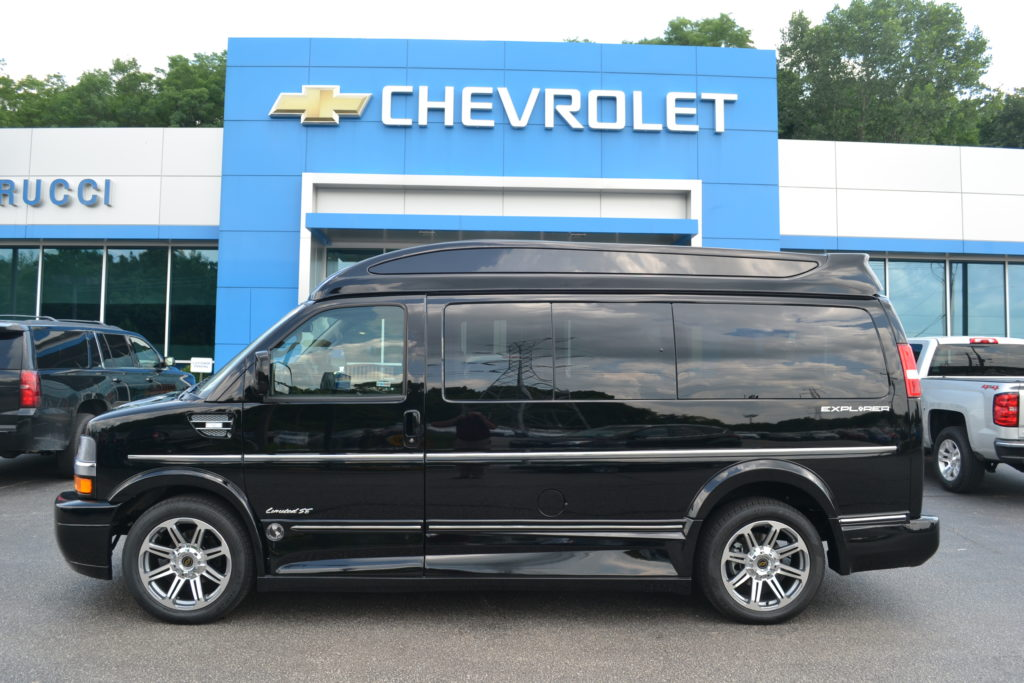 2018 Chevrolet Express Explorer Limited X-SE VC J1289405 Black Mike Castrucci Chevrolet Conversion Van Land
