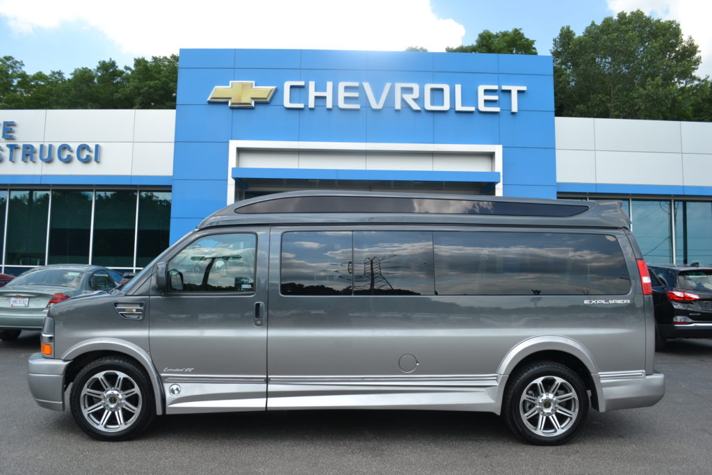 2017 Chevrolet Express 9 Passenger Explorer Conversion Van Limited X-SE H1274239 Cyber Gray Fade Mike Castrucci Conversion Van Land