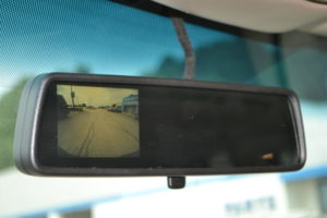 Back up camera Image appears in Rear View Mirror When put in Reverse